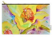 Sunny Splash Of Orchids Carry-all Pouch