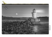 Sunrise At Bug Light Bw Carry-all Pouch by Susan Candelario