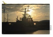 Sunrise At The Naval Base Silhouette Erie Basin Marina V3 Carry-all Pouch