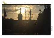 Sunrise At The Naval Base Silhouette Erie Basin Marina V4 Carry-all Pouch