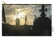 Sunrise At The Naval Base Silhouette Erie Basin Marina V5 Carry-all Pouch