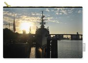 Sunrise At The Naval Base Silhouette Erie Basin Marina V7 Carry-all Pouch
