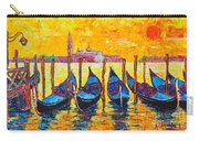 Sunrise In Venice Italy Gondolas And San Giorgio Maggiore Carry-all Pouch