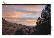Sunrise - Indian Lodge Carry-all Pouch by Allen Sheffield