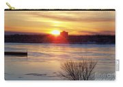 Sunrise On A Cold Frozen Niagara River Carry-all Pouch