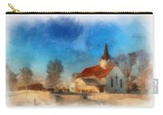 Sunrise On A Rural Church 03 Carry-all Pouch