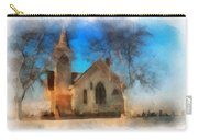 Sunrise On A Rural Church 04 Carry-all Pouch