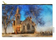 Sunrise On A Rural Church 12 Carry-all Pouch
