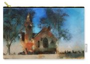 Sunrise On A Rural Church 16 Carry-all Pouch