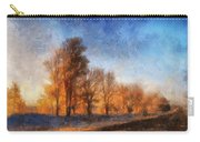 Sunrise On A Rural Country Road Photo Art 02 Carry-all Pouch