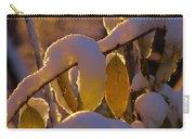 Sunrise On Autumn Snow Carry-all Pouch