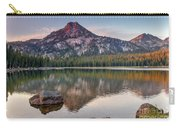 Sunrise On Gunsight Mountain Carry-all Pouch by Robert Bales