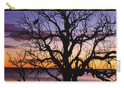 Sunrise Over Coongee Lakes With Moon.  Carry-all Pouch