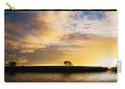 Sunrise Over Silouette Landscape Carry-all Pouch