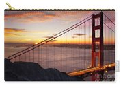 Sunrise Over The Golden Gate Bridge Carry-all Pouch