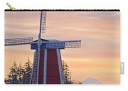Sunrise Over Wooden Shoe Tulip Farm And Carry-all Pouch