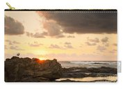 Sunrise Seagull On Rocks Carry-all Pouch