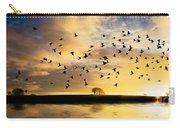 Birds Awaken At Sunrise Carry-all Pouch