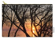 Sunrise Through The Chaos Of Willow Branches Carry-all Pouch