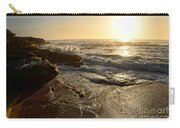 Sunrise Waves On The Rocks By Kaye Menner Carry-all Pouch