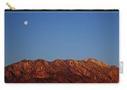Sunrise With Moon Setting On San Jacinto Mountains Carry-all Pouch