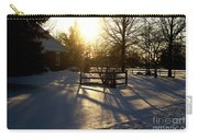 Sunset After The Snow Storm Carry-all Pouch