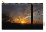 Sunset Along The Fence Yellow Red Orange Fine Art Photography Print  Carry-all Pouch