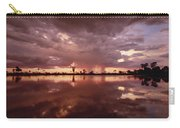 Sunset And Clouds Over Waterhole Carry-all Pouch