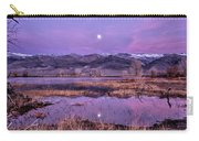 Sunset And Moonrise At Farmers Pond Carry-all Pouch by Cat Connor