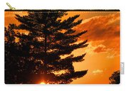 Sunset And Pine Tree  Carry-all Pouch