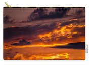 Sunset And Storm Clouds Carry-all Pouch