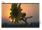 Sunset And Sunflower Carry-all Pouch