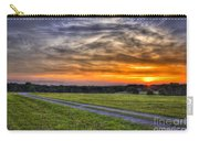 Sunset And The Road Home Carry-all Pouch by Reid Callaway