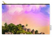 Sunset At Anse Source Argent Seychelles Carry-all Pouch