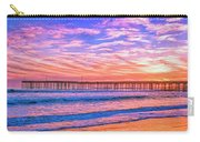 Sunset At Cayucos Pier Carry-all Pouch