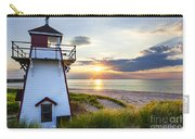 Sunset At Covehead Harbour Lighthouse Carry-all Pouch by Elena Elisseeva