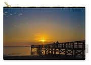 Sunset At Crystal Beach Pier Carry-all Pouch