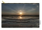 Sunset At Great Fountain Geyser - Yellowstone Carry-all Pouch