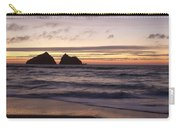Sunset At Holywell Bay Carry-all Pouch