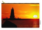 Sunset At Ludington Carry-all Pouch