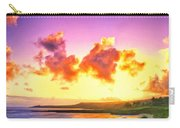 Sunset At Oneloa Beach Maui Carry-all Pouch