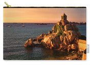 Sunset At Port Blanc - Cote De Granit Rose Carry-all Pouch