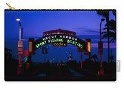 Sunset At Santa Monica Beach Pier Fine Art Photography Print Carry-all Pouch
