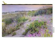 Sunset At The Beach  Flowers On The Sand Carry-all Pouch