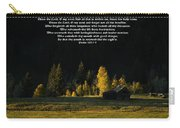 Sunset At The Cabin With Scripture Carry-all Pouch