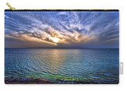 Sunset At The Cliff Beach Carry-all Pouch by Ron Shoshani