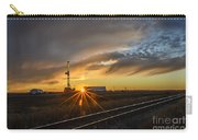 Sunset At The Edge Of Oil Rigs Carry-all Pouch