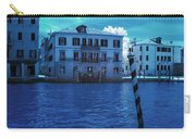 Sunset At The Hotel Canal Grande Venice Italy Near Infrared Blue Carry-all Pouch