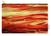Sunset At The Red River Abstract Carry-all Pouch