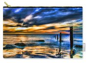 Sunset At Washed Out Pier Carry-all Pouch